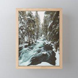 The Wild McKenzie River Portrait - Nature Photography Framed Mini Art Print