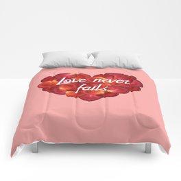 Love Never Fails Comforters