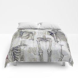 Leonardo Da Vinci human body sketches Comforters