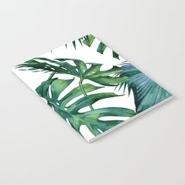 Classic Palm Leaves Tropical Jungle Green Notebook