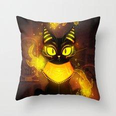 Bastet- the Goddess of Cats Throw Pillow