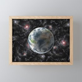 Planet Earth-Space Framed Mini Art Print
