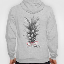 pineapple back and white Hoody