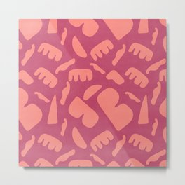Fun pattern of random handmade look shapes #429 Metal Print