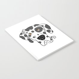 Harlequin Great Dane Face Notebook