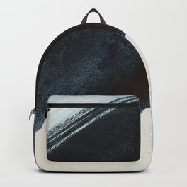 Like A Gentle Hurricane [2]: a minimal, abstract piece in blues and white by Alyssa Hamilton Art Backpack