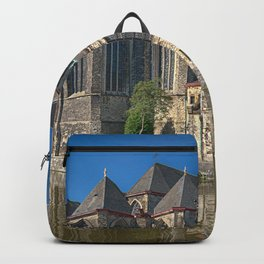 Belgium Gent Canal Temples Houses Cities temple Building Backpack