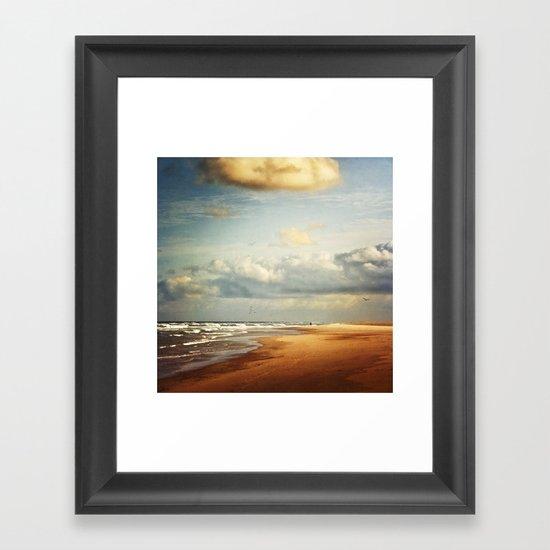 my dream beach Framed Art Print