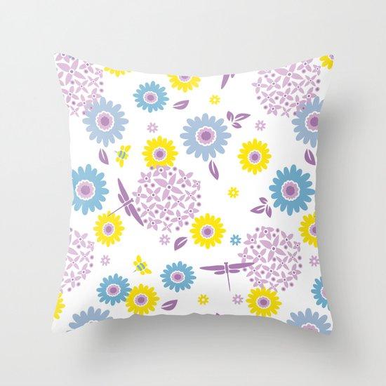 Summer Buzz Throw Pillow