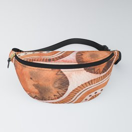Sound of Ethnic Bongos / Watercolor Abstract Pattern Fanny Pack