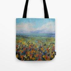Wildflower Seascape Tote Bag