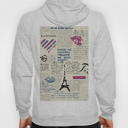 Paris, France Eiffel Tower Hoody