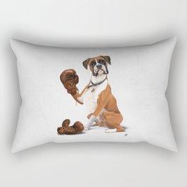 The Boxer (Wordless) Rectangular Pillow