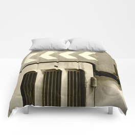 Road Roller Chevron 05 - Industrial Abstract Comforters
