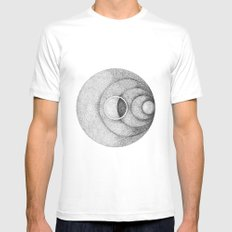 Moon White MEDIUM Mens Fitted Tee