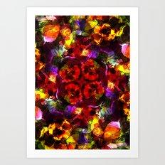 Flower Kaleidoscope  Art Print
