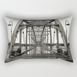 Walnut Street Bridge in Platinum Rectangular Pillow
