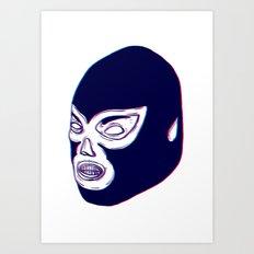 Lucha Libre Mask Art Print