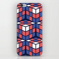 cascade - red/white/blue iPhone & iPod Skin