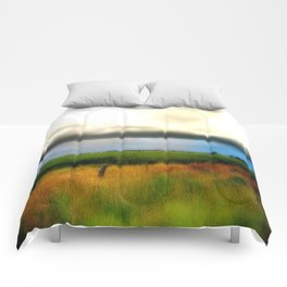 Low lying Clouds Comforters