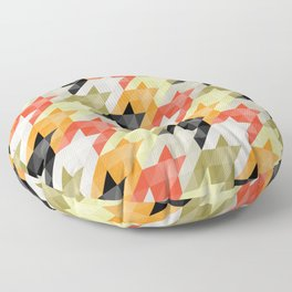 Multicolored origami houndstooth Floor Pillow