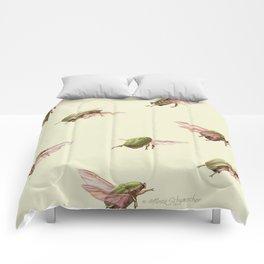 beetle  flight Comforters
