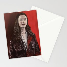 Abigail, acrylic painting Stationery Cards
