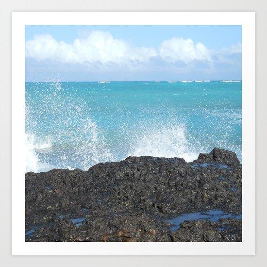 Oahu: Splash 1 Art Print