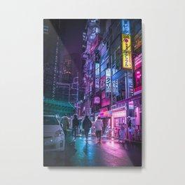 Cyberpunk Neo Tokyo Metal Print