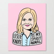 Leslie Knope is my spirit animal Canvas Print
