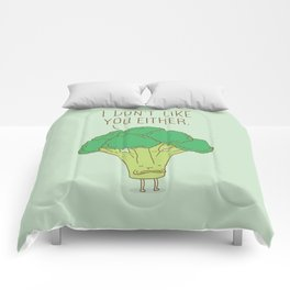 Broccoli don't like you either Comforters
