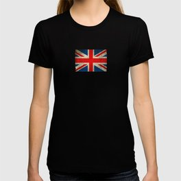 Old and Worn Distressed Vintage Union Jack Flag T-shirt