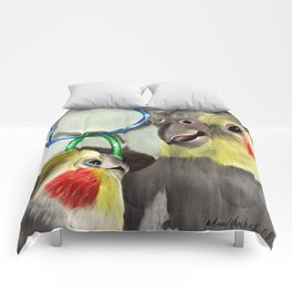 Chit Chat Cockatiel Painting Comforters