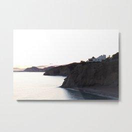 Mediterranean cliff coast Metal Print