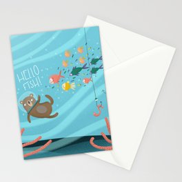Hello fish Stationery Cards