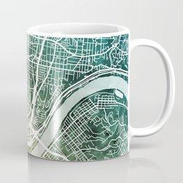 Cincinnati Ohio City Map Coffee Mug