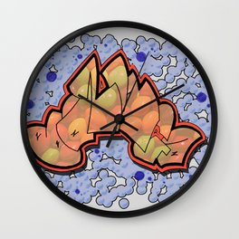 Skittle-Bazinga Wall Clock