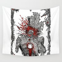 mad hatter Wall Tapestries featuring Mad Hatter by Mongolizer
