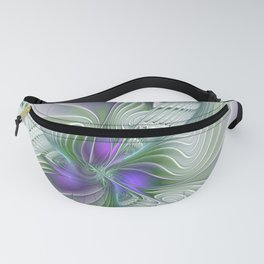 Chaotic Elegance, Abstract Fractal Art Fanny Pack