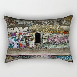 Grafiti dans les tunnels de la Petite Ceinture // Grafiti in the tunnels of the Petite Ceinture Rectangular Pillow