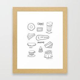 La dent sucrée Framed Art Print