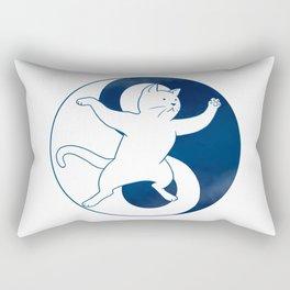 Tai Chi Cat 01 Rectangular Pillow