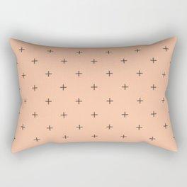 Crosses on Peach Rectangular Pillow