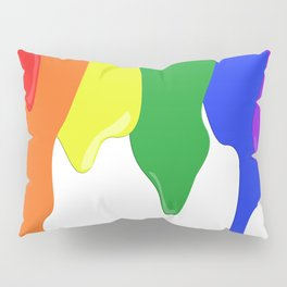 Watch the White Paint Pillow Sham
