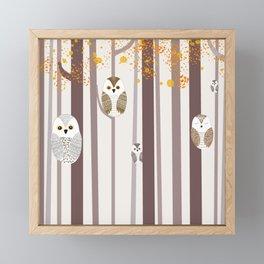 Owls Framed Mini Art Print