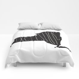 New York Motto - Black Comforters