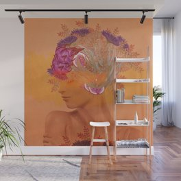 Woman in flowers III Wall Mural