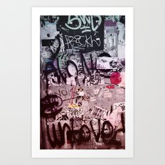 Writing's on the Wall Art Print