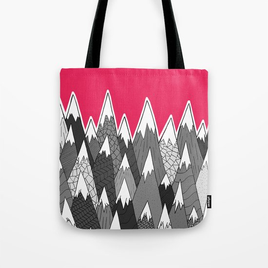 The Tall Grey Mountains Tote Bag