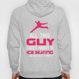 Lovely Gift Ice Skating Tshirt Design Cares about sakating Hoody